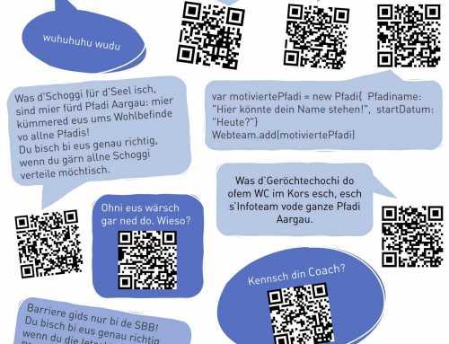 Möchtest du dich in einem Team der Pfadi Aargau engagieren?